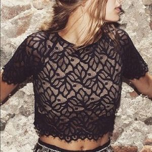 For Love & Lemons Lace Buenas Noches Top